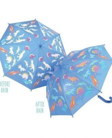 FLOSS AND ROCK:  COLOR CHANGING UMBRELLA - DINO