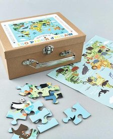 FLOSS AND ROCK:  JIGSAW PUZZLE - 130 PC WORLD