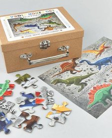 FLOSS AND ROCK:  JIGSAW PUZZLE - 130 PC DINO