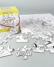 FLOSS AND ROCK:  JIGSAW PUZZLE - 48 PC COLOR YOUR OWN PUZZLE - ARK