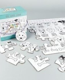 FLOSS AND ROCK:  JIGSAW PUZZLE - 48 PC COLOR YOUR OWN PUZZLE - DOG