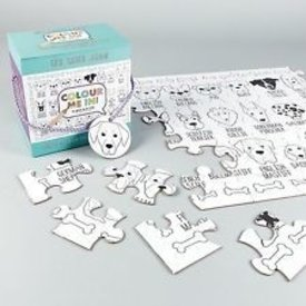 FLOSS AND ROCK FLOSS AND ROCK:  JIGSAW PUZZLE - 48 PC COLOR YOUR OWN PUZZLE - DOG