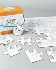 FLOSS AND ROCK:  JIGSAW PUZZLE - 48 PC COLOR YOUR OWN PUZZLE - ABC