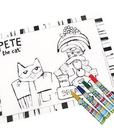 Pete The Cat-Placemat w/ 4 washable markers