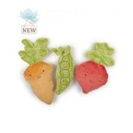 BUNNIES BY THE BAY: Peas & Love Veggie Rattles Assortment -