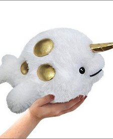"SQUISHABLE: Mini Golden Narwhal, Limited (7"")"