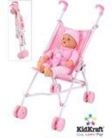 CASTLE TOYS:  PINK UMBRELLA STROLLER