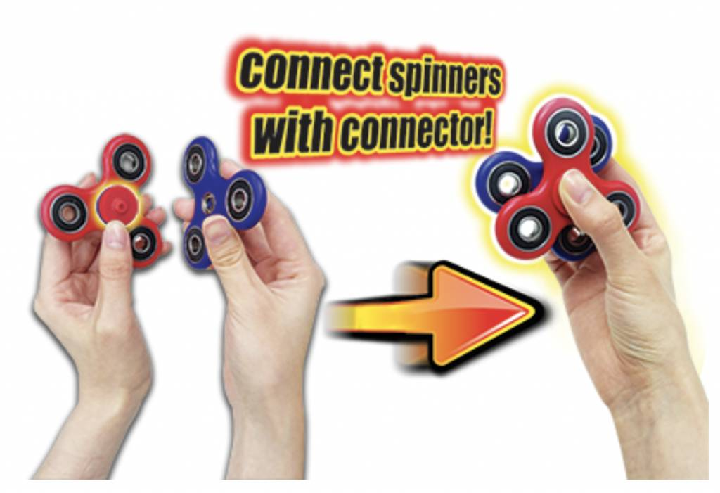 FLASH:  TRI STAR FIDGET SPINNER WITH CONNECTOR