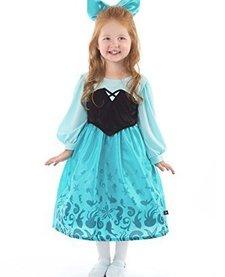 LITTLE ADVENTURES: Mermaid Day Dress with Bow Medium