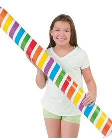 INFLATABLE FOODLE:  RAINBOW GLOW IN THE DARK POOL NOODLE