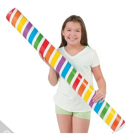 ORIENTAL TRADING INFLATABLE FOODLE:  RAINBOW GLOW IN THE DARK POOL NOODLE