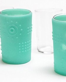 SILIKIDS:  6OZ TODDLER GLASS IN SEA COLOR (2PK)