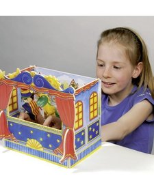GOKI:  FINGER PUPPET THEATRE (5 SCENES - PUPPETS NOT INCL)