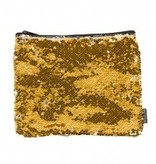 FASHION ANGELS:  MAGIC SEQUIN PENCIL POUCH - GOLD/SILVER
