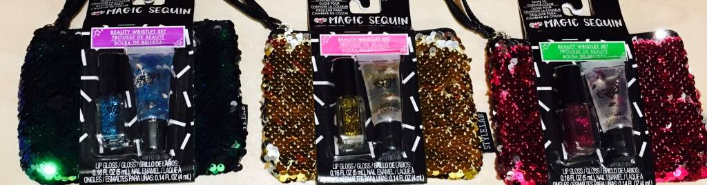 S.Lab Magic Sequin Beauty Wristlet - PINK/Silver