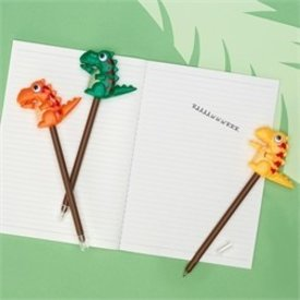TWO'S COMPANY CUPCAKES AND CARTWHEELS:  DINOSAUR PUSH PEN