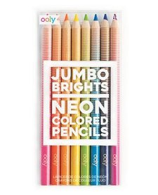 OOLY:  JUMBO BRIGHTS NEON COLORED PENCILS