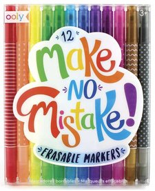 OOLY:  MAKE NO MISTAKE ERASABLE MARKERS