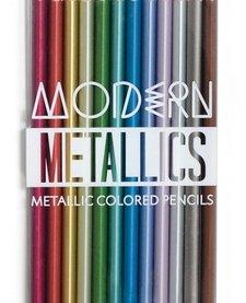 OOLY:  MODERN METALLICS METALLIC COLORED PENCILS1
