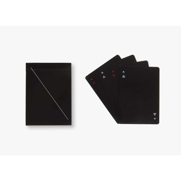 AREAWARE: MINIM BLACK PLAYING CARDS
