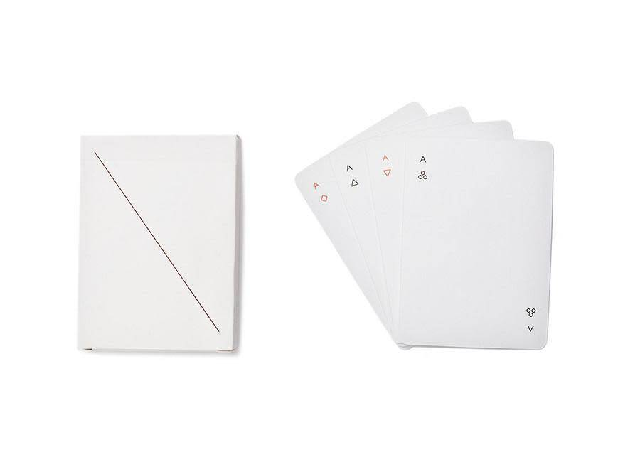 AREAWARE: MINIM WHITE PLAYING CARDS