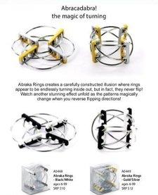 BEYOND 123:  PlayableART Abraka Rings - Black/White