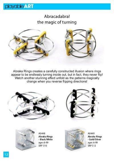 BEYOND 123 BEYOND 123:  PlayableART Abraka Rings - Black/White