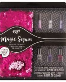 S. LAB MAGIC SEQUIN BEAUTY GIFT SET:  PINK/SILVER