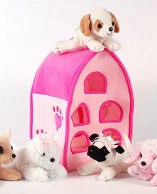 "12"" PINK DOG HOUSE"