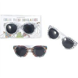 TWO'S COMPANY CUPCAKES AND CARTWHEELS:  COLOR THIS SUNGLASSES
