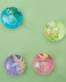 CUPCAKES AND CARTWHEELS:  LARGE BOUNCING DINO GLITTER BALL