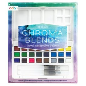 OOLY OOLY:  CHROMA BLENDS TRAVEL WATERCOLOR PALETTE