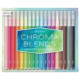OOLY OOLY:  CHROMA BLENDS WATERCOLOR BRUSH MARKERS