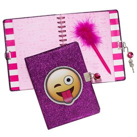 3C4G 3C4G:  EMOJI GLITTER LOCKING JOURNAL