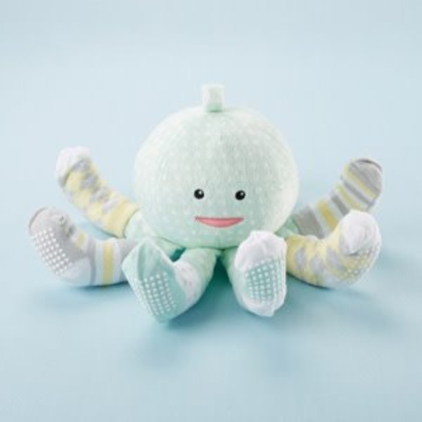BABY ASPEN BABY ASPEN: MINT SOCKTOPUS PLUSH AND SOCKS