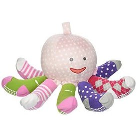 BABY ASPEN BABY ASPEN: MRS. SOCK T PUS PLUSH + OCTOPUS WITH 4 PAIRS OF SOCKS (PINK)