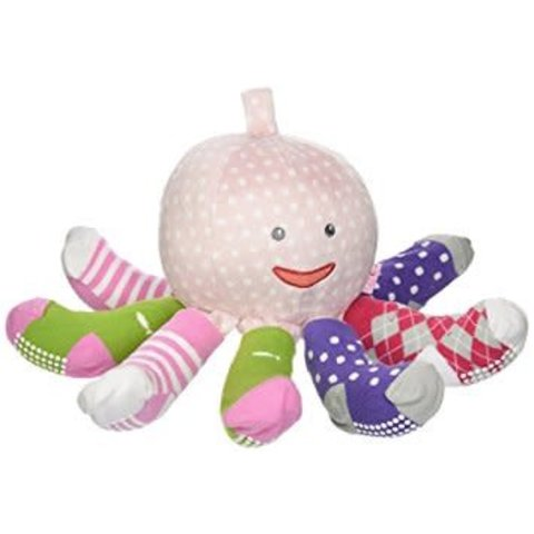 BABY ASPEN: MRS. SOCK T PUS PLUSH + OCTOPUS WITH 4 PAIRS OF SOCKS (PINK)