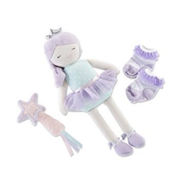 BABY ASPEN BABY ASPEN: PHOEBE THE FAIRY PRINCESS PLUSH + RATTLE AND SOCKS
