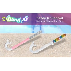 BLING 2O/PARR MARR BLING2O:  BLING SNORKEL (2 ASST COLORS PINK OR RAINBOW)
