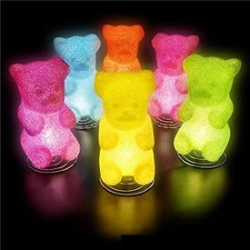 """THE TOY NETWORK: 10"""" GUMMY BEAR LAMP (PINK OR GREEN)"""