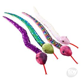 """THE TOY NETWORK: 26"""" SEQUIN SNAKES (ASST COLORS)"""