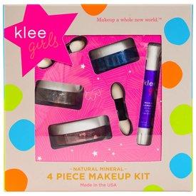 KLEE KLEE GIRLS:  4 PC MAKEUP KIT - SHINING THROUGH