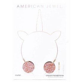 AMERICAN JEWEL AMERICAN JEWEL:  CRYSTAL UNICORN HEADPHONES