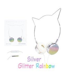 AMERICAN JEWEL AMERICAN JEWEL:  CAT HEADPHONES - GLITTER RAINBOW