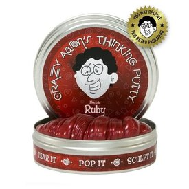 "CRAZY AARON'S PUTTY:  ELECTRIC RUBY 2"" TIN"