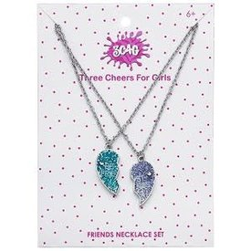 3C4G 3C4G:  BEST FRIENDS GLITTER HEART NECKLACE