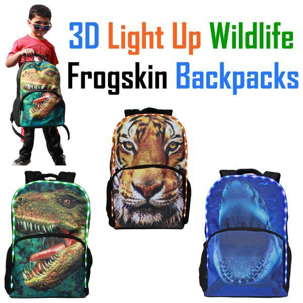 AMERICAN JEWEL:  3D LIGHT UP BACKPACK - TIGER