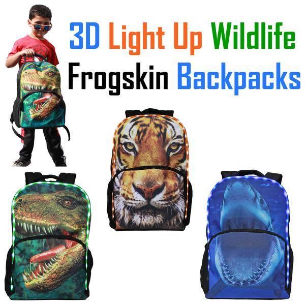 AMERICAN JEWEL:  3D LIGHT UP BACKPACK - DINO