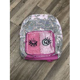 FASHION ANGELS:  S.Lab Magic Sequin Backpack-Silver Holo & Reveal