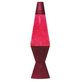 14.5'' LAVA LAMP GLITTTER PINK